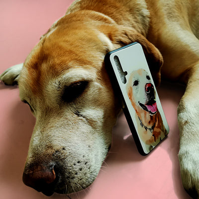 Custom Pet Photo Phone Case, Soft Silicone/Slim Glass+TPU - The Pet Pillow