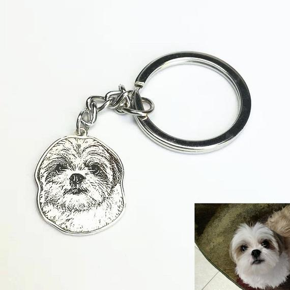 Personalized Pet Shaped Keychain as Memorial Gift for Loss of Pet - The Pet Pillow