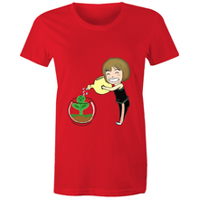 Load image into Gallery viewer, rock.leaf.moss Girl #1 - Sportage Surf - Womens T-shirt