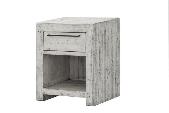 MALIBU NIGHT STAND - RUSTIC WHITE
