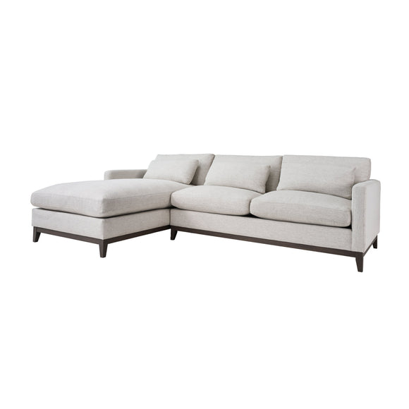 PLUSH OXFORD LEFT SECTIONAL SOFA