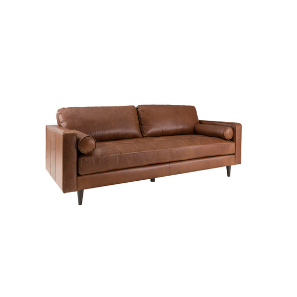 PLUSH GEORGIA LEATHER SOFA
