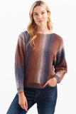 OMBRE SPACE DYE DOLMAN SWEATER