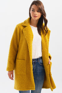BOUCLE KNIT TAILORED COAT