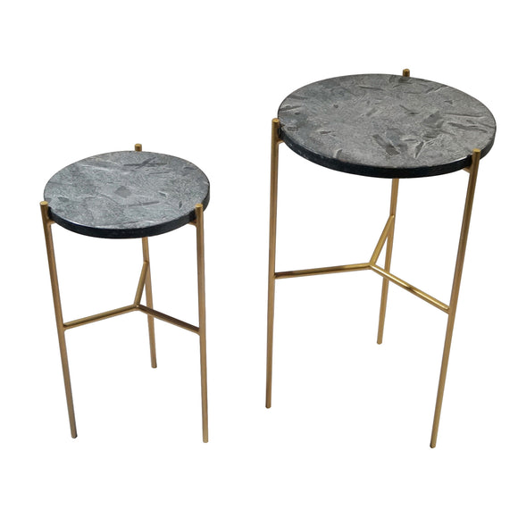 EARTH WIND & FIRE VALENCIA MARBLE SIDE TABLE