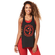 **SHIP NOW **  Made With Zumba Love Open Side Tank