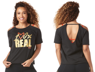 ***SHIP NOW *** Zumba® 100 Cold Shoulder Top