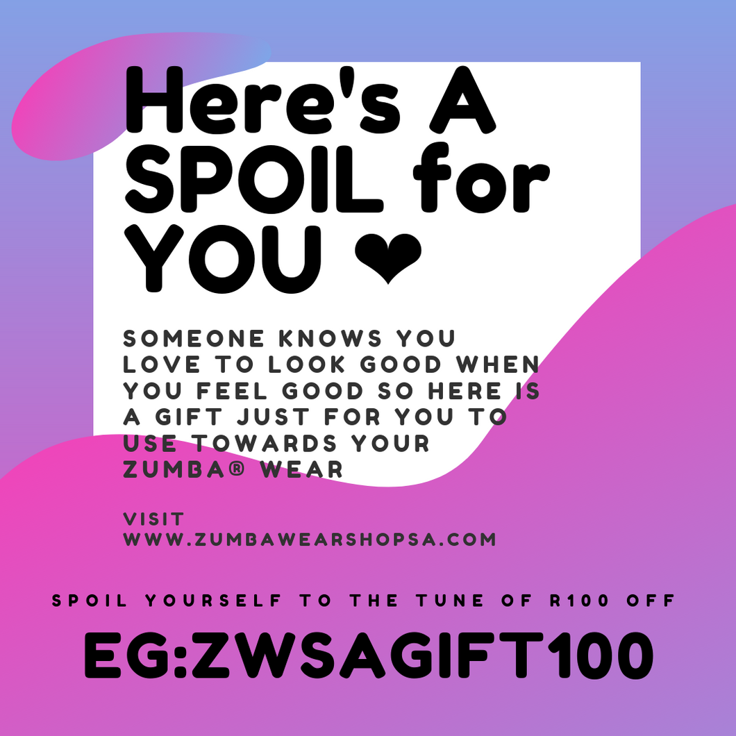 GIFT CARD for Your Zumba® Bestie - R100