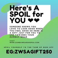 GIFT CARD for Your Zumba® Bestie - R250