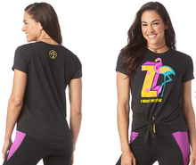 Load image into Gallery viewer, I Want My Zumba® Tie Front Top