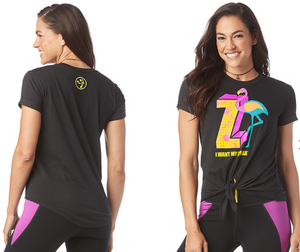 I Want My Zumba® Tie Front Top