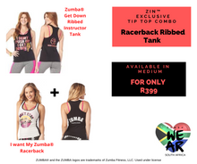 Load image into Gallery viewer, I want to Get Down Racerback Tank ZIN™ Combo