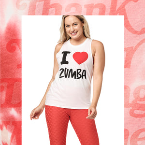 ❤ Zumba® Lover Open Back Tank