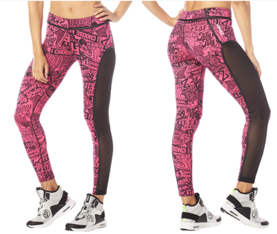 Courage Piped Ankle Leggings Pink