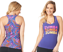 Load image into Gallery viewer, **SHIP NOW **  Peace Love Zumba® Racerback