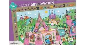 Djeco - Observation Puzzle - Princesses - 54 pieces