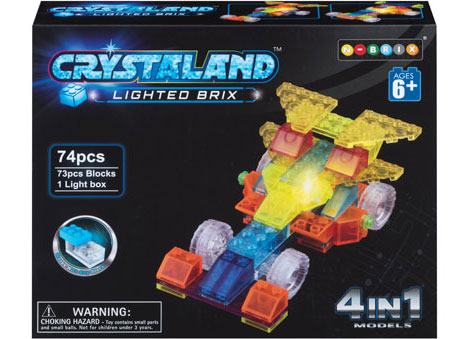 Crystaland - 4 in 1 Model - Lighted Brix - 74 pieces
