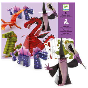 Djeco - Paper Toys - Dragons
