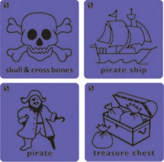 Educational Colours - Kinder-Rubs - Pirate