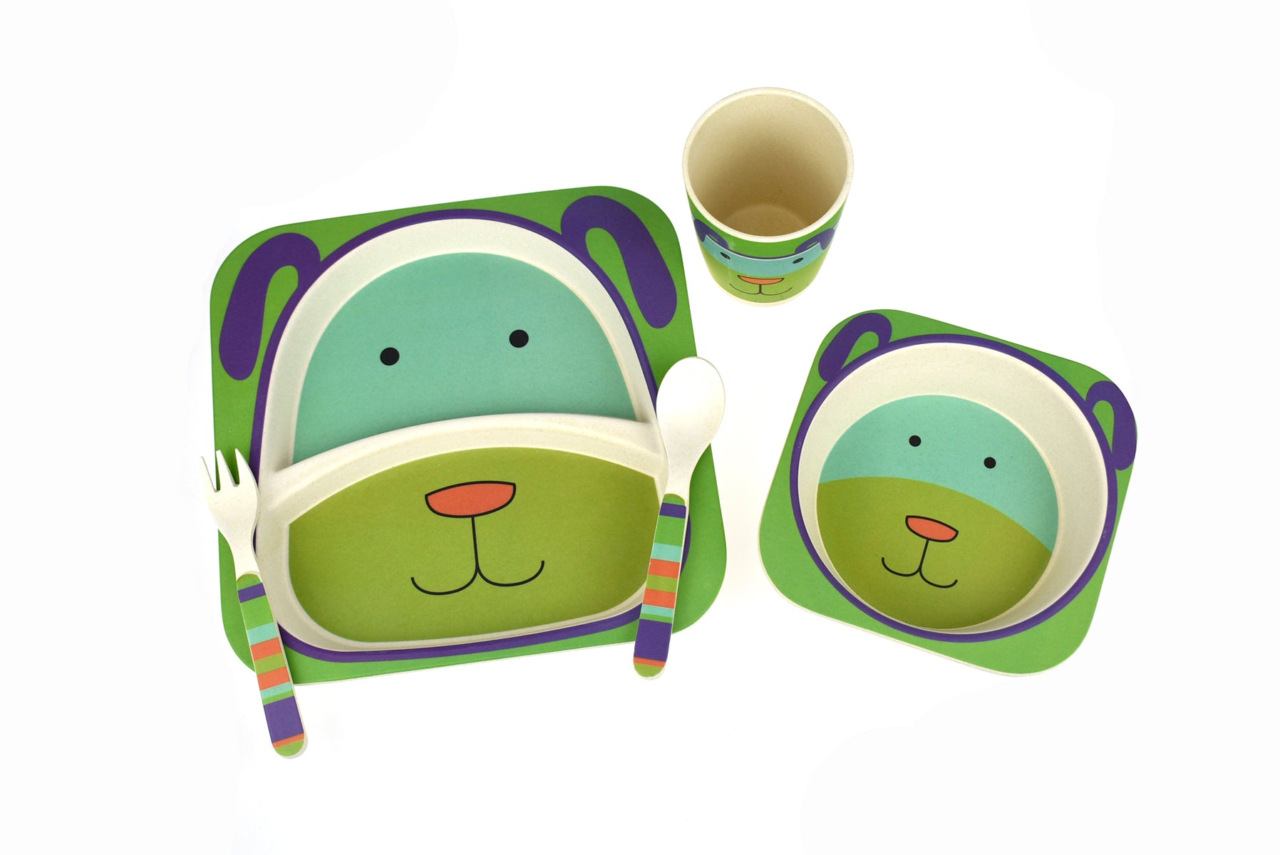 BambooZoo - Dinnerware - Dog - 5 Piece