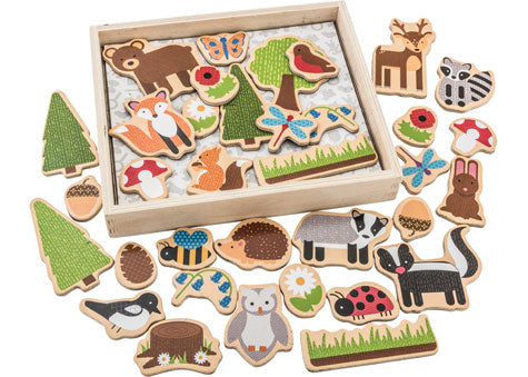 Big Jigs - Woodland Magnets - 35 Pieces
