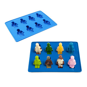 Lego - Silicone Minifigure Robot Man Ice Cube / Baking Mould Tray - Blue