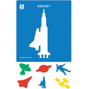 Educational Colours - Stencils - Space Explorer