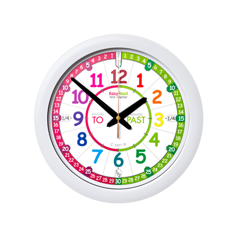 EasyRead Time Teacher Rainbow Past & To Wall Clock