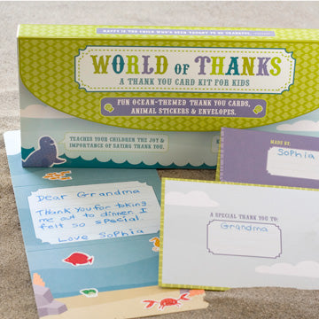World Of Thanks - A Thank You Card Kit for Kids - Ocean Habitat