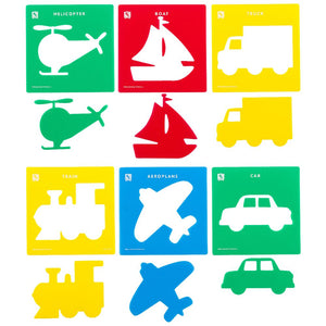 Educational Colours - Stencils - Transport