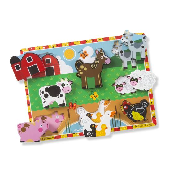 Melissa and Doug - Chunky Puzzle - Farm Animals