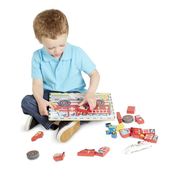 Melissa and Doug - Chunky Puzzle - Fire Engine