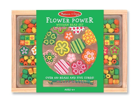 Melissa and Doug - Wooden Bead Set - Flower Power
