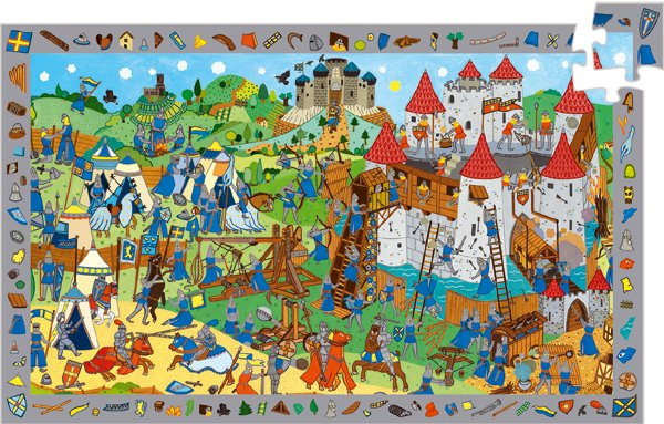 Djeco - Observation Puzzle - Knights - 54 pieces