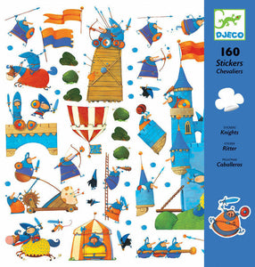 Djeco - Knights - 160 Stickers