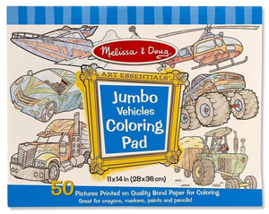 Melissa and Doug - Jumbo Colouring Pad - Vehicles