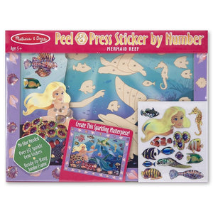 Melissa and Doug - Sticker By Numbers - Mermaid Reef