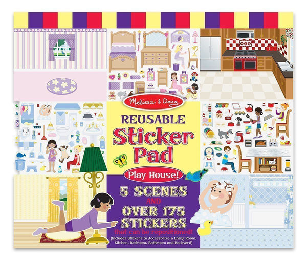 Melissa and Doug - Reusable Stickers - Play House