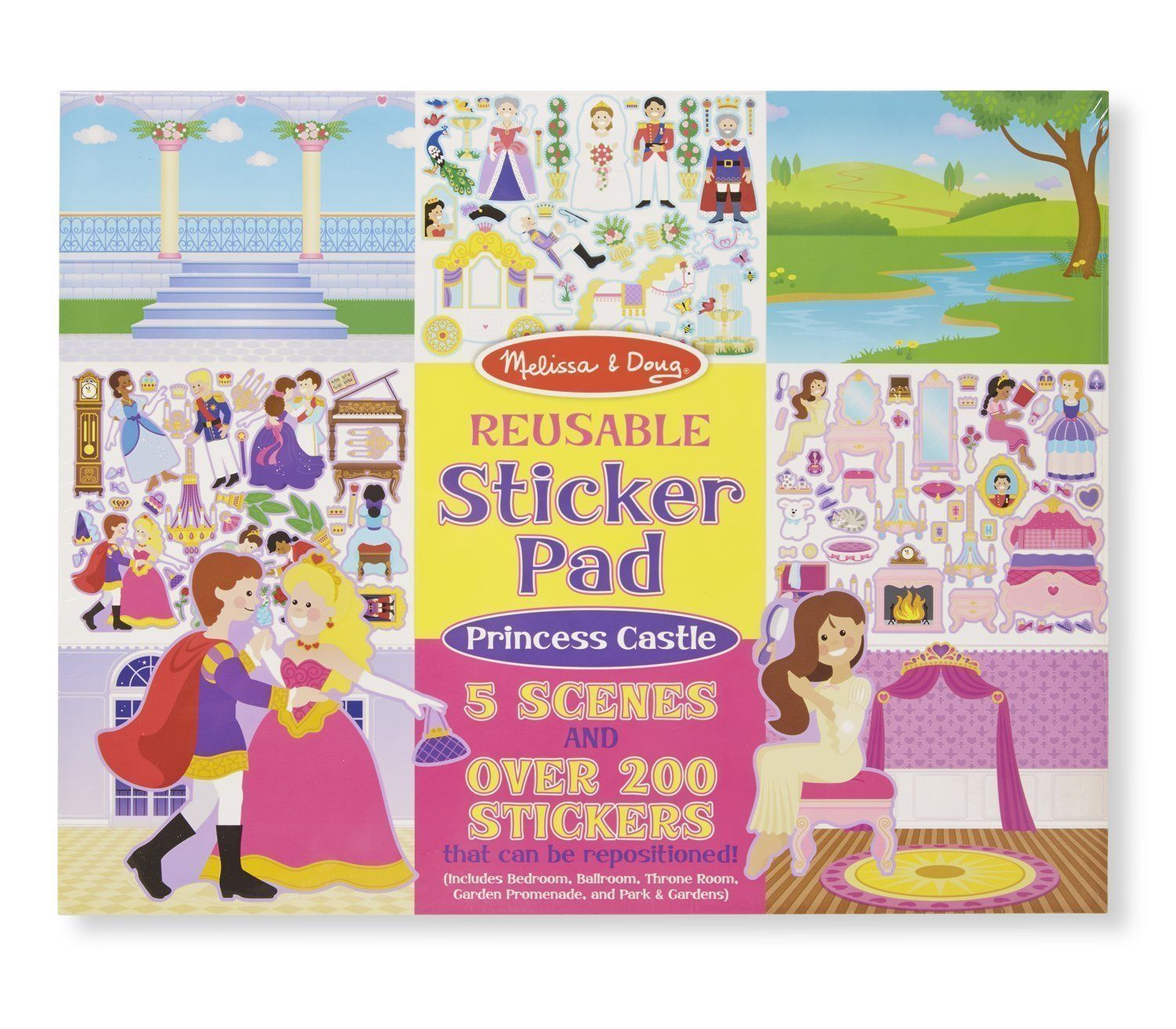 Melissa and Doug - Reusable Stickers - Princess Castle