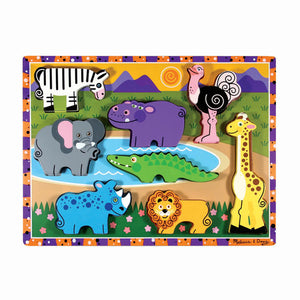 Melissa and Doug - Chunky Puzzle - Safari Animals
