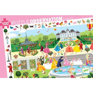 Djeco - Observation Puzzle - Garden Party - 100 pieces