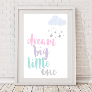 Beskpoke Print - Dream Big Little One - A4 Size - Unframed