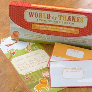 World Of Thanks - A Thank You Card Kit for Kids - African Habitat