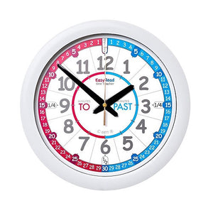 EasyRead Time Teacher Red/Blue Past & To Wall Clock