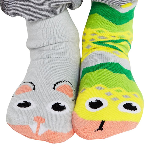 Pal Socks - Snake & Mouse (4 - 8 Years)