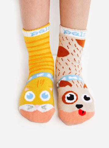 Pal Socks - Cat & Dog (4 - 8 Years)
