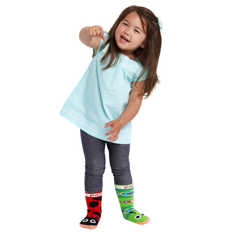 Pal Socks - Ladybug & Caterpillar (1 - 3 Years)