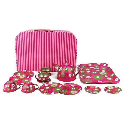 Cocomotion - Crazy Daisy Tin Teaset - 15 pieces