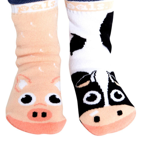 Pal Socks - Cow & Pig (1 - 3 Years)