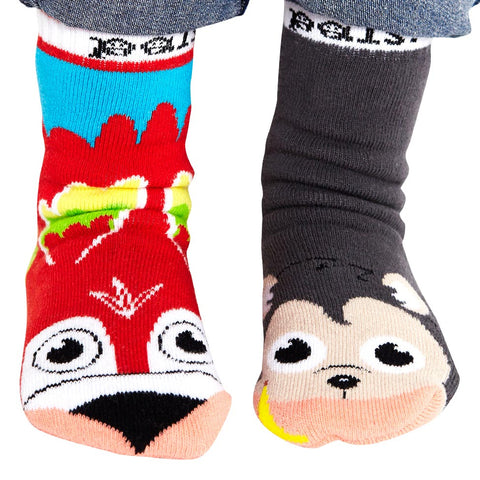 Pal Socks - Monkey & Parrot (1 - 3 Years)